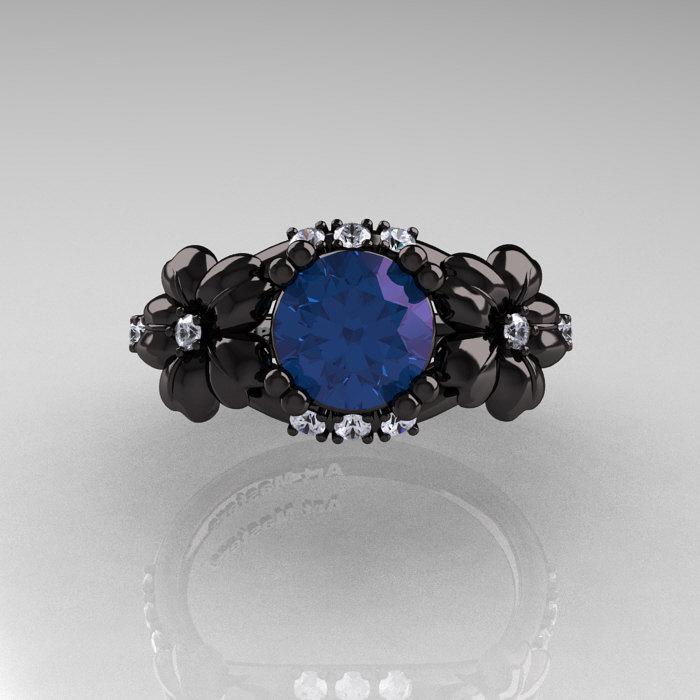 Nature Inspired 14k Black Gold 1 0 Ct Alexandrite Diamond
