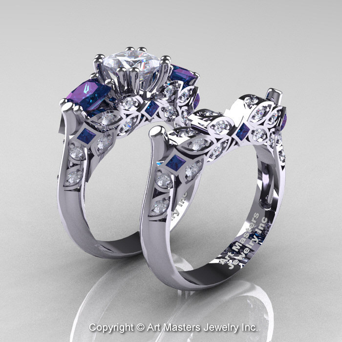 gemstones and gems alexandrite white created best gold pinterest engagement wedding images ring rings ideas on fritzibea crystals diamond