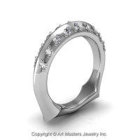 Classic 14K White Gold Diamond Greek Galatea Matching Wedding Band AR114B-14KWGD-1