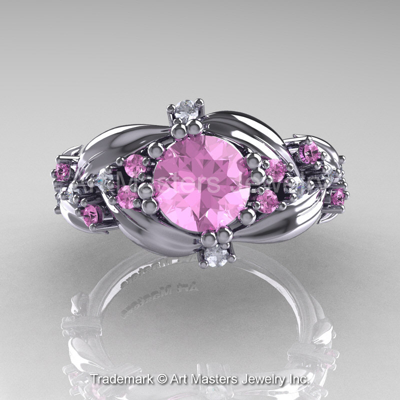 Nature Classic 14k White Gold 1 0 Ct Light Pink Sapphire