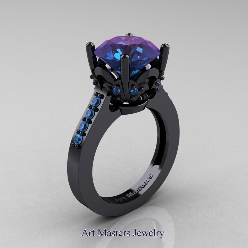 Purple And Green  Rings