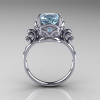 Art-Masters-Vintage-14K-White-Gold-3-Ct-Aquamarine-Solitaire-Ring-Wedding-Ring-R167-14KWGAQ-F
