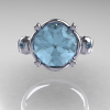 Art-Masters-Vintage-14K-White-Gold-3-Ct-Aquamarine-Solitaire-Ring-Wedding-Ring-R167-14KWGAQ-T