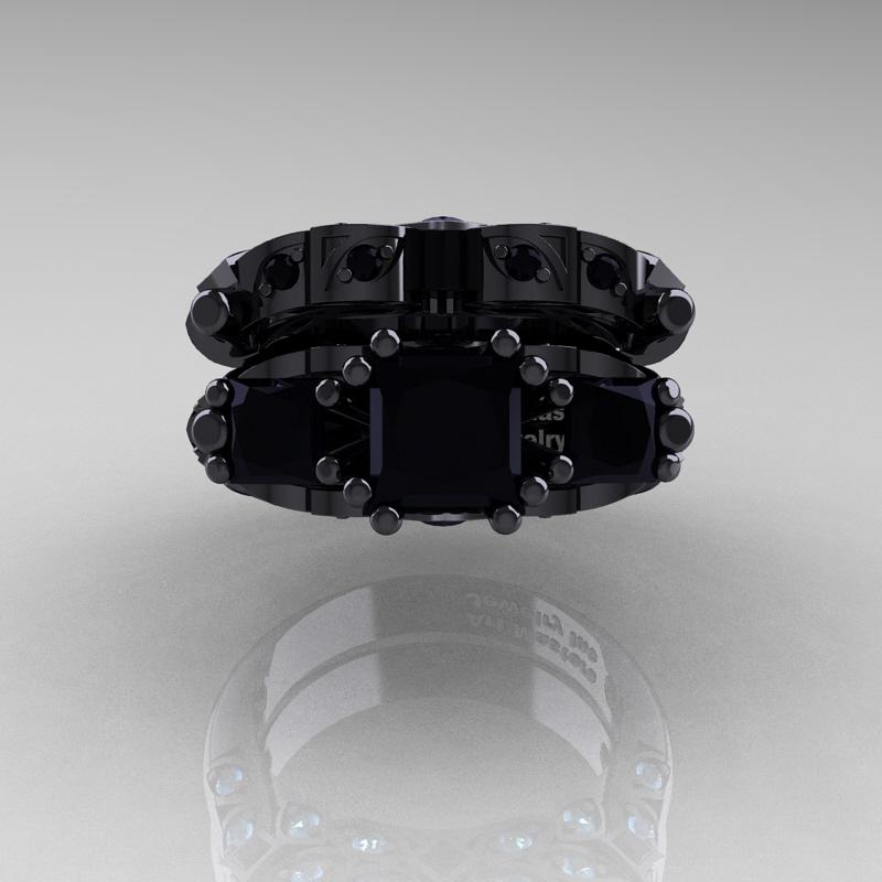 Black Gold Diamond Ring Uk