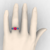 Classic-14K-Rose-Gold-Three-Stone-Princess-Pink-Sapphire-Blue-Topaz-Diamond-Ring-R500-RGBTPS-H