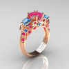 Classic-14K-Rose-Gold-Three-Stone-Princess-Pink-Sapphire-Blue-Topaz-Diamond-Ring-R500-RGBTPS-P