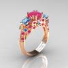 Classic-14K-Rose-Gold-Three-Stone-Princess-Pink-Sapphire-Blue-Topaz-Diamond-Ring-R500-RGBTPS-P