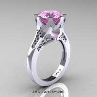 Modern-14K-White-Gold-3-Carat-Light-Pink-Sapphire-Crown-Solitaire-Wedding-Ring-R580-14KWGLPS-P