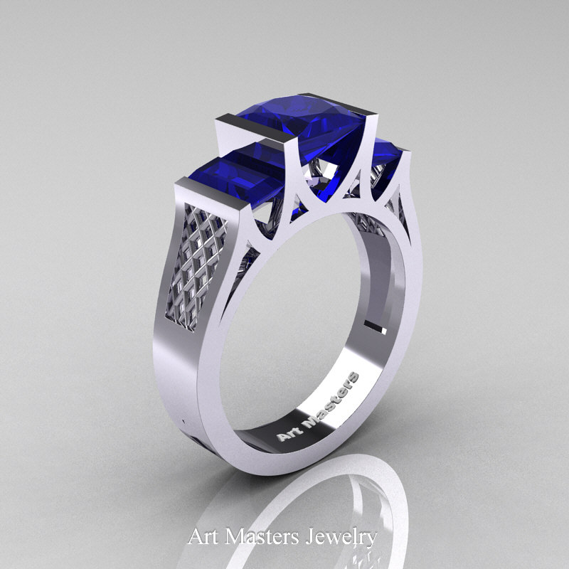 plated zirconia cubic and over in gold classic ring diamond rings sapphire white p floating silver