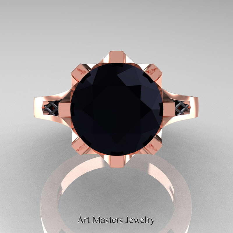 Modern Renaissance 14k Rose Gold 3 0 Carat Black Diamond