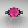 Classic-French-14K-Black-Gold-Pink-Sapphire-Diamond-Solitaire-Wedding-Ring-R401-14KBGDPSS-T