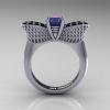Nature-Inspired-14K-White-Gold-1-Ct-Oval-Chrysoberyl-Alexandrite-Black-Diamond-Bee-Wedding-Ring-R531-14KWGBDAL-F