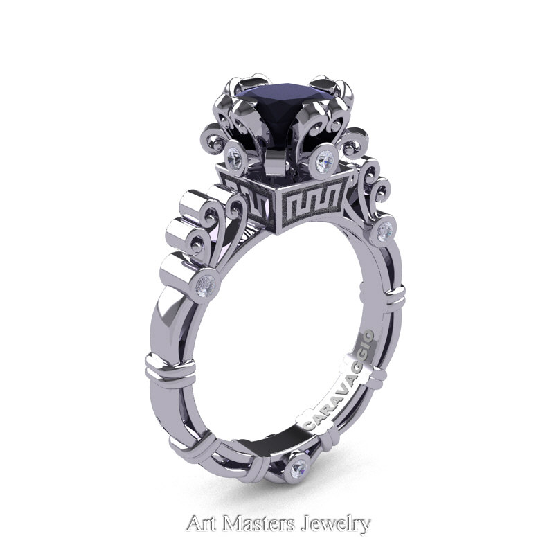 Art Masters Caravaggio 14k White Gold 1 5 Ct Princess