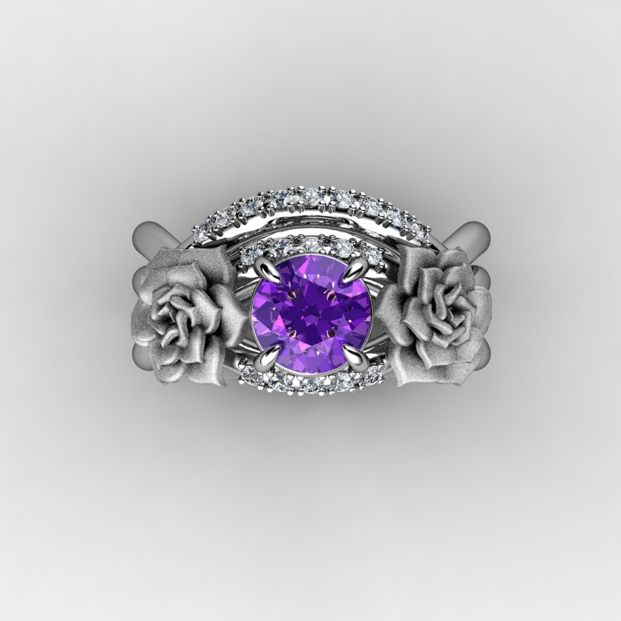 nature inspired 14k white gold 1 0 ct amethyst