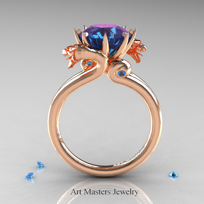 Art Masters 14k Rose Gold 3 0 Ct Chrysoberyl Alexandrite