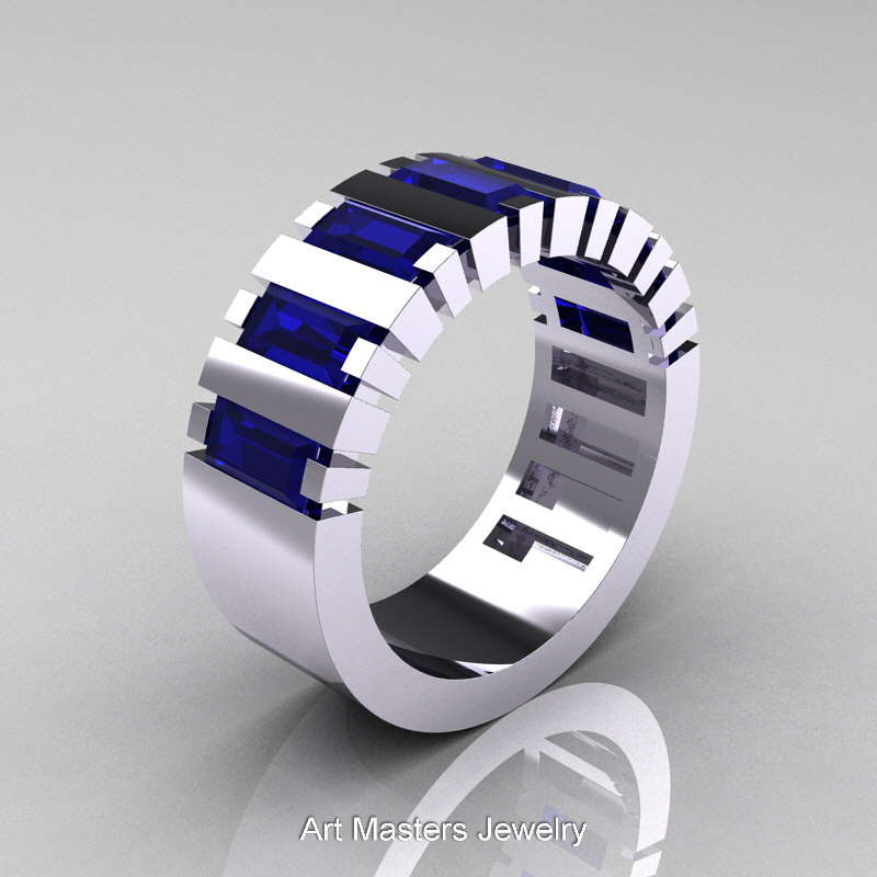 sapphire star silver william black mens jewellery ring australia sydney gold christopher