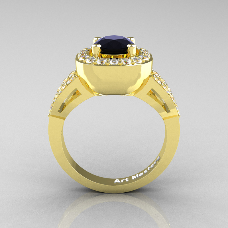 classic 14k yellow gold 1 0 ct black and white