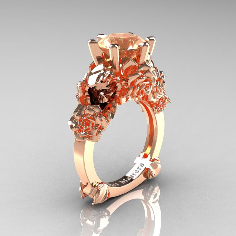 Cz Champagne Diamond Rings