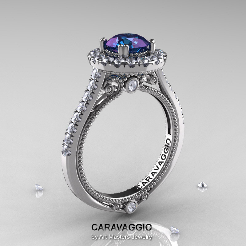 wedding and cushion reve diamonds le white ve yellow mermaid sm rose alexandrite ring cut r gold rings product products