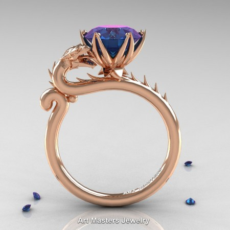 Art-Masters-Jewelry-14K-Rose-Gold-3-Carat-Russian-Alexandrite-Dragon-Engagement-Ring-R801-14KRGAL-F