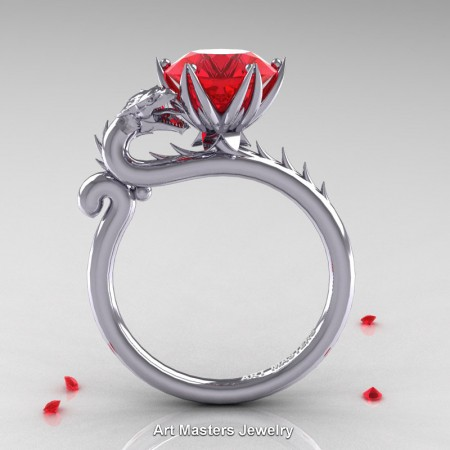 Art-Masters-Jewelry-14K-White-Gold-3-Carat-Ruby-Dragon-Engagement-Ring-R801-14KWGR-F