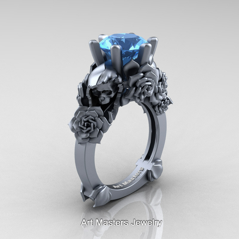 engagement jewelry grey t product art sapphire masters aquamarine ring ct gold dragon carat
