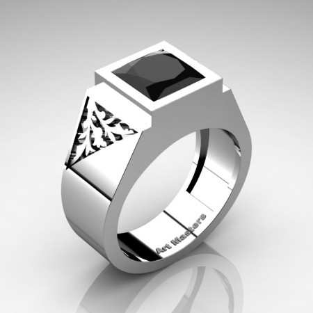 Mens-Modern-10K-White-Gold-3-Carat-Princess-Black-Sapphire-Diamond-Wedding-Ring-R914M-10KWGDBD-P