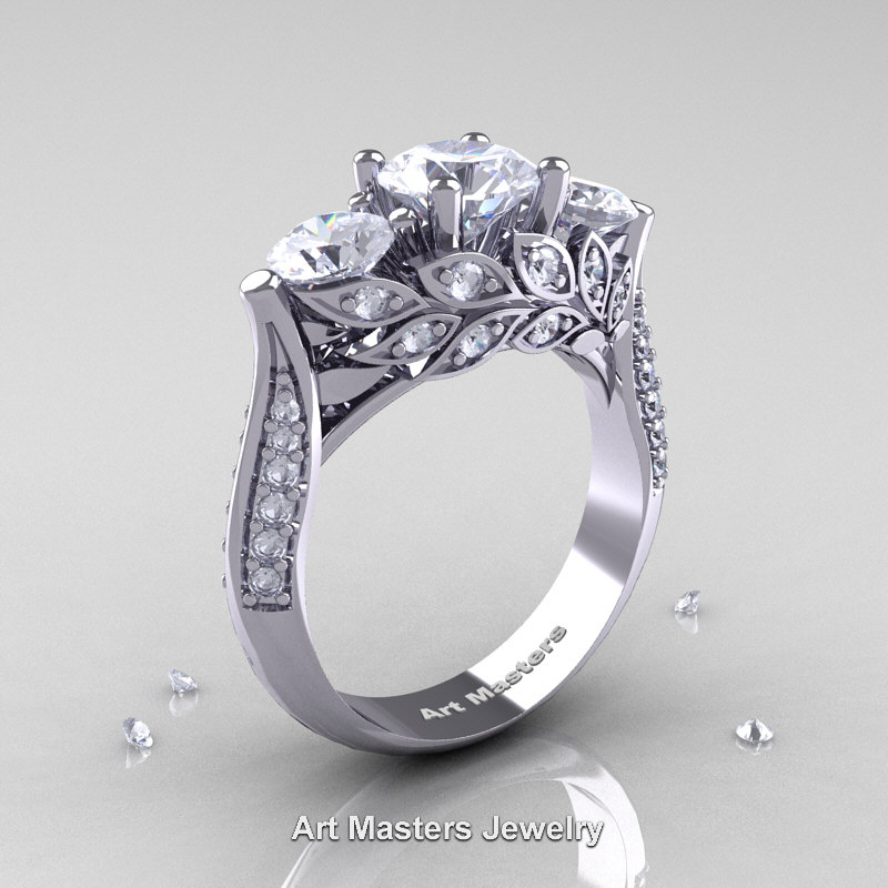 the gallery for gt diamond leaf engagement ring