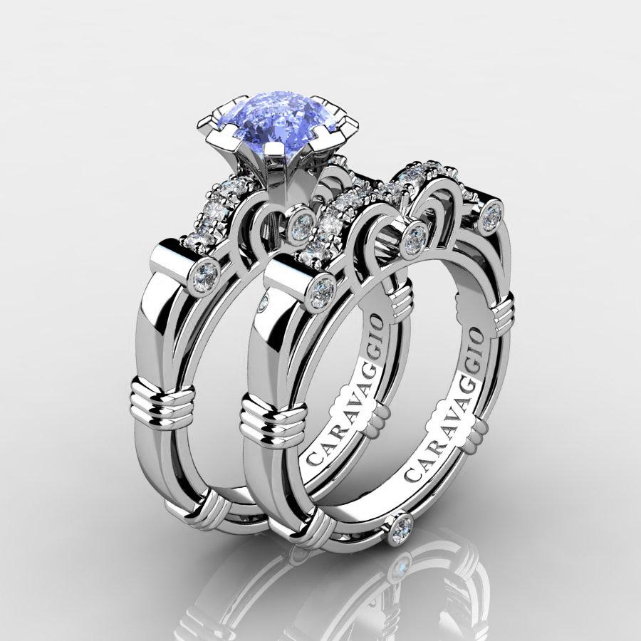 White Gold Antique Diamond Ring