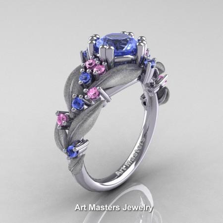 Nature-Classic-14K-White-Gold-1-0-Ct-Light-Blue-and-Light-Pink-Sapphire-Leaf-and-Vine-Engagement-Ring-R340S-14KWGLPSLBS-P