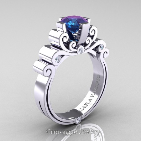Caravaggio-14K-White-Gold-1-25-Carat-Alexandrite-Diamond-Engagement-Ring-R639-14KWGDAL-P