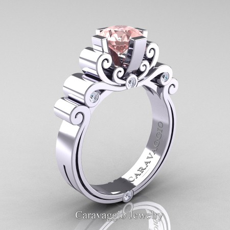 Caravaggio-14K-White-Gold-1-25-Carat-Pink-Morganite-Diamond-Engagement-Ring-R639-14KWGDPMO-P