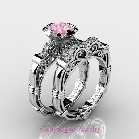 Caravaggio-14K-White-Gold-1-Carat-Light-Pink-Sapphire-Diamond-Engagement-Ring-Wedding-Band-Set-R623S-14KWGDLPS-P