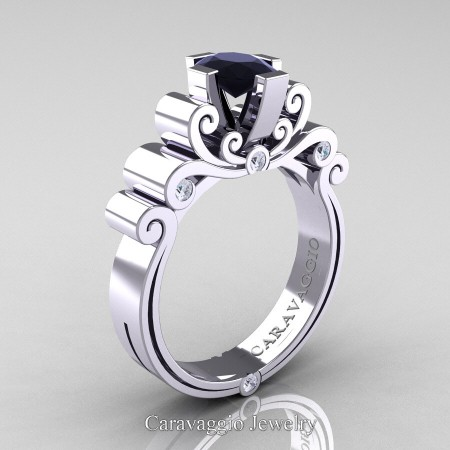 Caravaggio-14K-White-Gold-1-Carat-Oval-Black-and-White-Diamond-Engagement-Ring-R639O-14KWGDBD-P