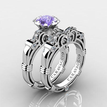 Caravaggio-14K-White-Gold-125-Carat-Tanzanite-Diamond-Engagement-Ring-Wedding-Band-Set-R623S-14KWGDTA-P