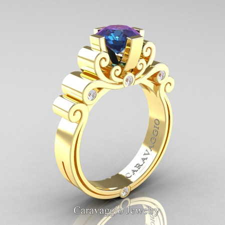 Caravaggio-14K-Yellow-Gold-1-25-Carat-Alexandrite-Diamond-Engagement-Ring-R639-14KYGDAL-P