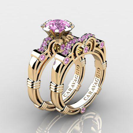 Caravaggio-14K-Yellow-Gold-1-Carat-Light-Pink-Sapphire-Engagement-Ring-Wedding-Band-Set-R623S-14KYGLPS-P