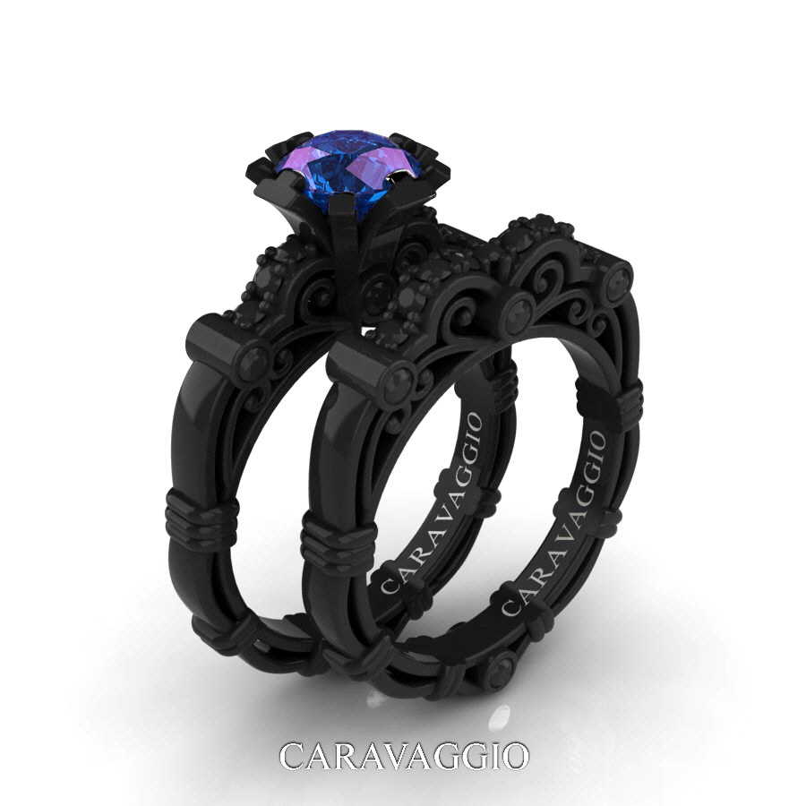 square jewellery art diamond ring deco gay on black engagement view male with head