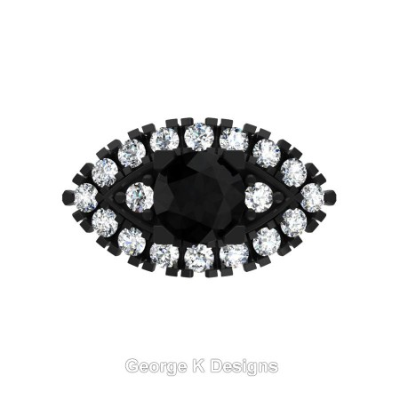 Classic-French-14K-Black-Gold-1-Carat-Black-and-White-Diamond-Marquise-Halo-Engagement-Ring-R409-14KBGDBD-T