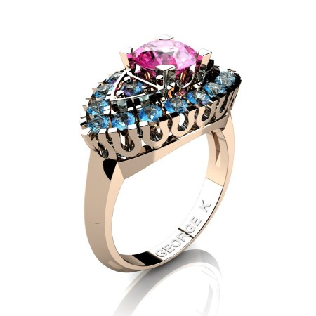 Classic-French-14K-Rose-Gold-1-Carat-Pink-Sapphire-Blue-Topaz-Marquise-Halo-Engagement-Ring-R409-14KRGBTPS-P