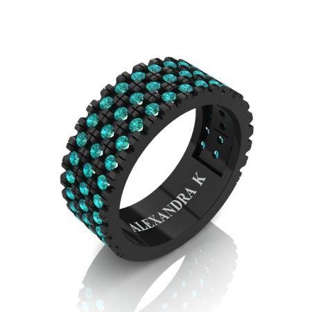 Alexandra-K-Modern-14K-Black-Gold-French-Micro-V-Pave-Blue-Diamond-Wedding-Ring-A1003-14KBGBLD-P