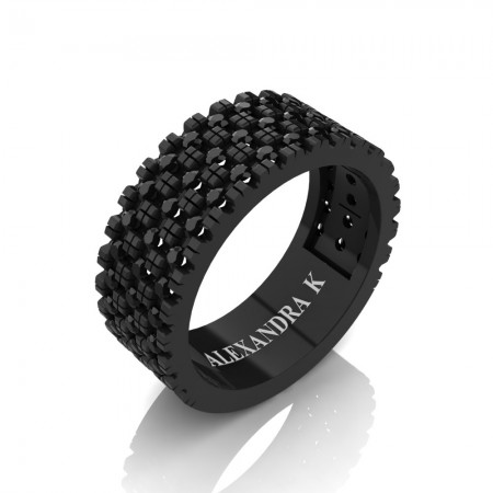 Alexandra-K-Modern-French-14K-Black-Gold-Black-Diamond-Wedding-Ring-A1003-14KBGBD-P