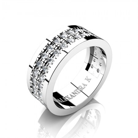 Alexandra-K-Modern-French-14K-White-Gold-Double-Row-Scallop-Pave-Diamond-Wedding-Ring-A1002-14KWGD-P