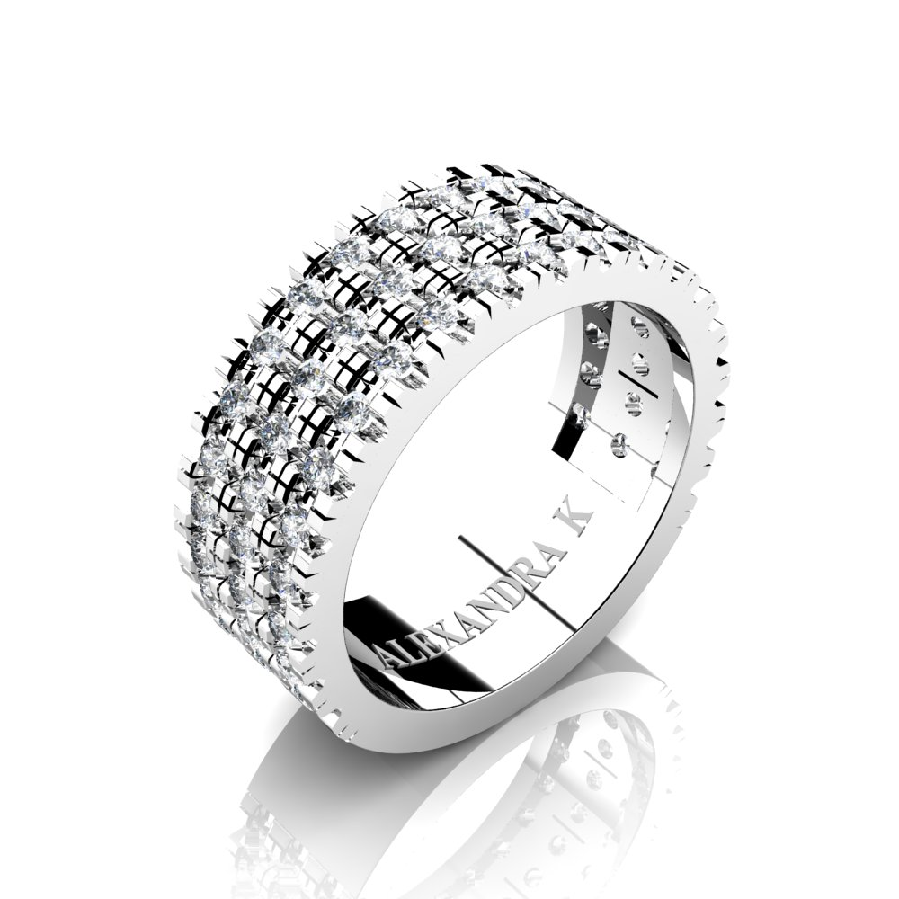 mens 950 platinum micro v pave diamond modern french wedding ring a1003 platd art masters jewelry. Black Bedroom Furniture Sets. Home Design Ideas