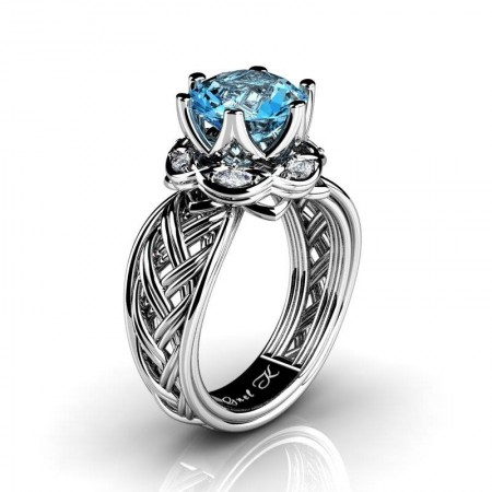 Classic-950-Platinum-3-Ct-Blue-Topaz-Marquise-Diamond-Collar-Double-Knot-Solitaire-Ring-R450-PLATDBT-P