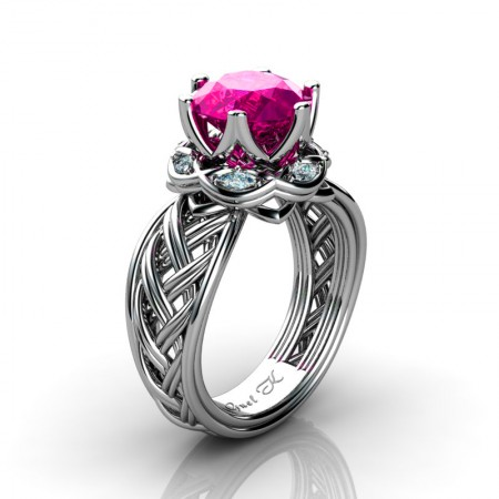 Classic-950-Platinum-3-Ct-Pink-Sapphire-Marquise-Diamond-Collar-Double-Knot-Solitaire-Ring-R450-PLATDPS-P