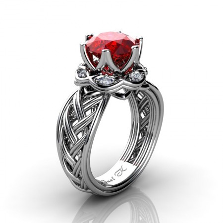 Classic-950-Platinum-3-Ct-Ruby-Marquise-Diamond-Collar-Double-Knot-Solitaire-Ring-R450-PLATDR-P