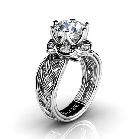 Classic-950-Platinum-3-Ct-White-Sapphire-Marquise-Diamond-Collar-Double-Knot-Solitaire-Ring-R450-PLATDWS-P