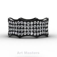 Winterfell 14K Black Gold 100 Diamond Gothic Eternity Ring R725A-14KBGD