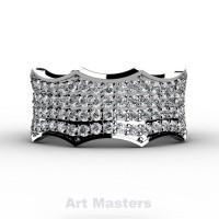 Winterfell 14K White Gold 100 Diamond Gothic Eternity Ring R725A-14KWGD